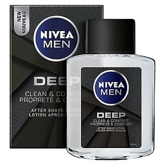 Nivea Men Deep Clean & Comfort After-Shave Lotion, 100 ml