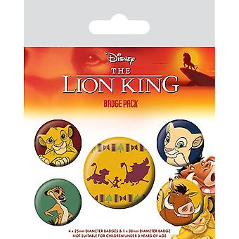 Lion King Hakuna Matata Pin Button Badges Set