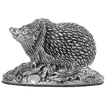 Orton West Hedgehog Ornament - Silver