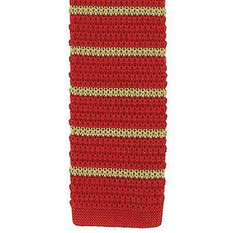 Michelsons van Londen zijde gebreide gestreepte mager ex aequo - rood/geel