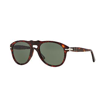 Persol PO0649 24/31 Havana/Crystal Green Sunglasses
