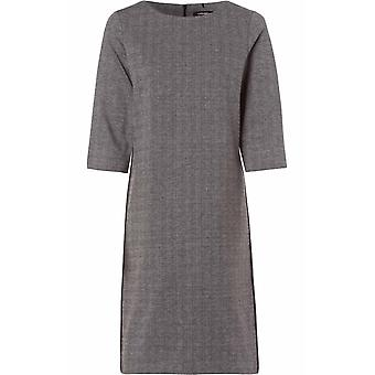 Olsen Grey Check Fitted Dress