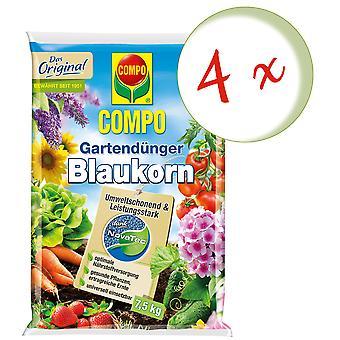 Sparset: 4 x COMPO Garden fertilizer Blue grain® NovaTec®, 7.5 kg