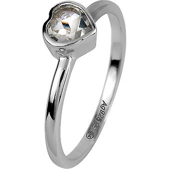 Jacques Lemans - Silver ring with white topaz - SE-R157A56 - RW: 56
