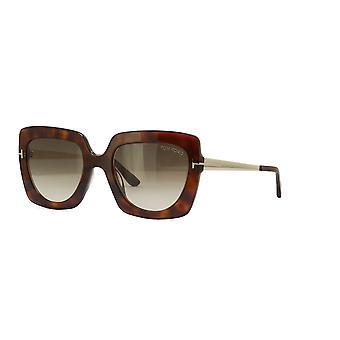 Tom Ford Jasmine-02 TF610 53F Blonde Havana/Brown Gradient Sunglasses