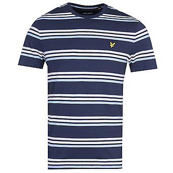 Lyle & Scott Multi Stripe Navy T-Shirt