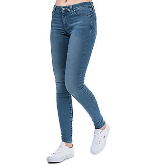 Frauen's Levis 711 Skinny All Play Jeans in Blau