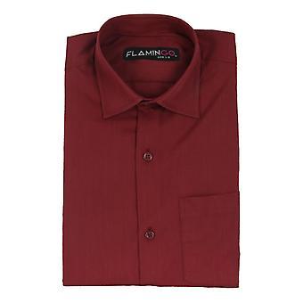 Boys Cotton Formal Burgundy Shirt