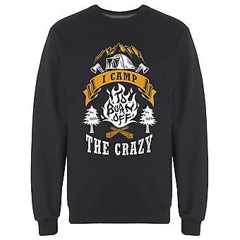 Jag Camp att bränna bort crazy sweatshirt Men & apos, s-Bild av Shutterstock