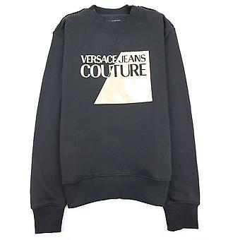Versace Jeans Couture Big Split Foil Sweatshirt Black 899