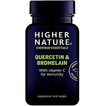 Higher Nature Quercetin & Bromelain Vegetable Tablets 60 (QUE060)