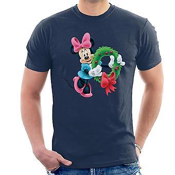 Disney Minnie Mouse Weihnachtskranz Männer's T-Shirt