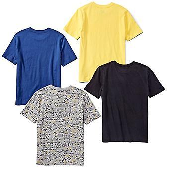 Marke - Spotted Zebra Boys' Kleinkind 4-Pack Kurzarm T-Shirts, Astr...
