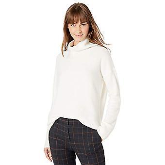 Lark & Ro Women's Boucle Turtleneck Oversized Sweater, Ivory , XX-Large