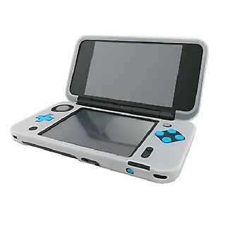 Hellfire Trading White Silicone Cover Rubber Gel Skin Case for Nintendo 2DS XL