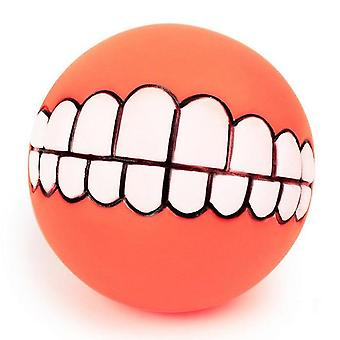 Funny Pets Teeth Chew Squeaking Toy Ball For Small Large Dogs, Puppy & Cat