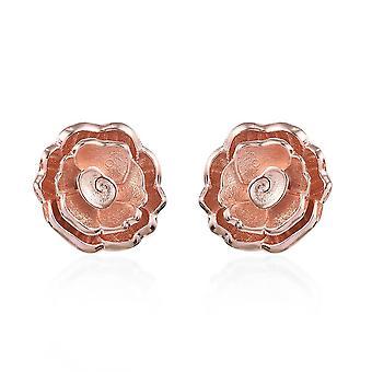 Boucles d'oreilles Stud pour femmes Sterling Argent Rose Or Plaqué TJC