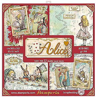 Stamperia Alice 12 x 12 Zoll Papierpack