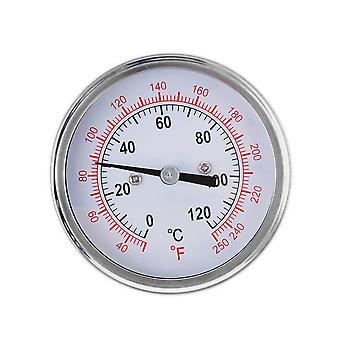 Stainless Steel Bimetal Thermometer Silver