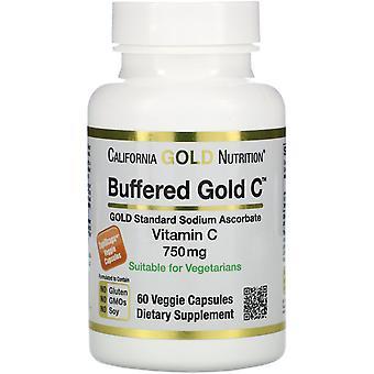 California Gold Nutrition, Buffered Vitamin C Capsules, 750 mg, 60 Veggie Capsul