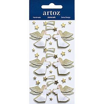 Gold Xmas Angels Craft Embellishment By Artoz