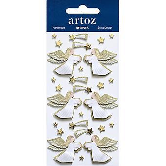 Guld Xmas änglar hantverk utsmyckning av Artoz