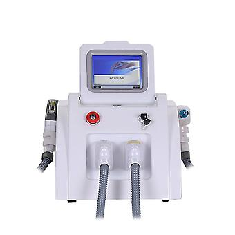 Portable 2 In 1 Shr Opt+ Radio Frequency+ Nd Yag Tattoo Removal Machine