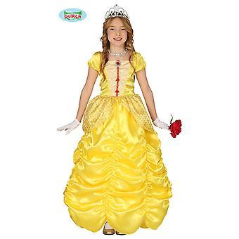 Prinzessinkostüm Kleid Königin Kinderkostüm Mädchen Prinzessin Kostüm gelb