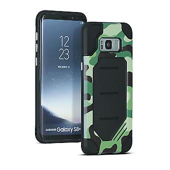 Samsung Galaxy S8 Plus Hard-Plastic Hybrid Cover Camouflage Design Camouflage Green