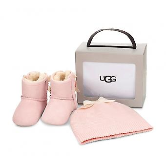 UGG Footwear UGG Infant Pink Jesse Bow II And Beanie Gift Set