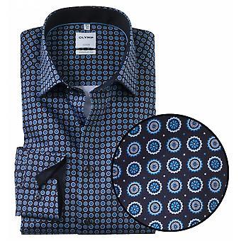 OLYMP Olymp Circle Print Formal Long Sleeve Shirt