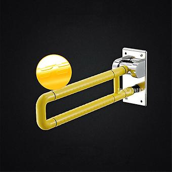 Stainless Steel Plastics Folding Washroom Safety Grab Bar, Anti-skid Toilet