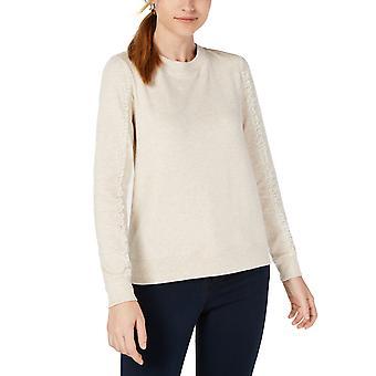 Maison Jules | Strik Lace Pullover Sweatshirt