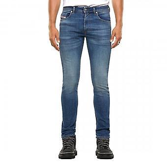 Diesel Thommer Stretch Light Blue Washed Denim Jeans 009DB