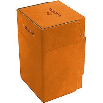 Torre de Vigilância Gamegenic 100-Card Conversível Deck Box Laranja