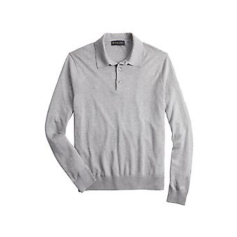 Brooks Brothers Men's Silk & Cotton Polo Sweater