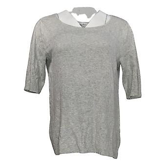 Linea por Louis Dell'Olio Women's Sweater Whisper Knit Gray A347450