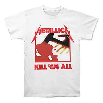 מטאליקה להרוג 'Em כל לבן חולצת טריקו