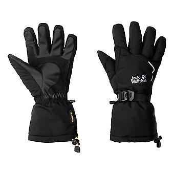 Jack Wolfskin Texapore Isot valkoiset hanskat - Musta