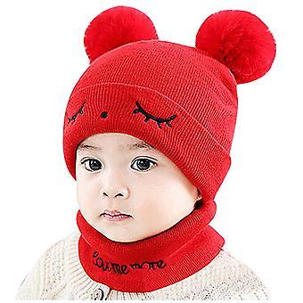 Chapeau chaud nouveau-né de chéri, type de boules à fourrure