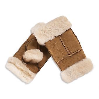 Nordvek Womens Sheepskin Fingerless Gloves - Stylish Wrist and Finger Cuff # 309-100