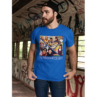 The Wonder Years Family Collage Men's Royal Blue T-shirt