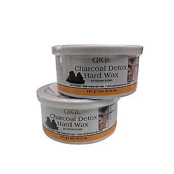GiGi Charcoal Detox Hard Wax 5 OZ Pack of 2