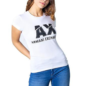 Armani exchange white women t-shirt