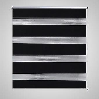 ダブルローラーブラインド50 x 100 cmブラック