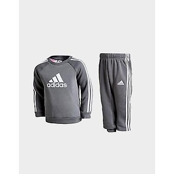 New adidas Originals Infant Badge of Sport Crew Tracksuit Grey