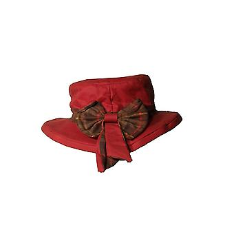 Walker and Hawkes - Ladies Wax Riding Thelma Bow Hat With Tartan Trim