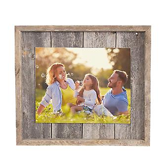 """11""""x14"""" Rustic Weathered Gray Picture Frame with Plexiglass Holder"""