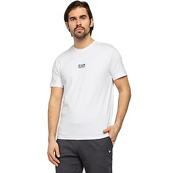 EA7 Emporio Armani Fitted Jersey T-Shirt - White/Black