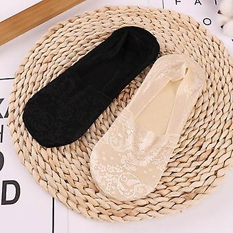 Fashion Summer Socks Style Lace Flower Antiskid Invisible Ankle